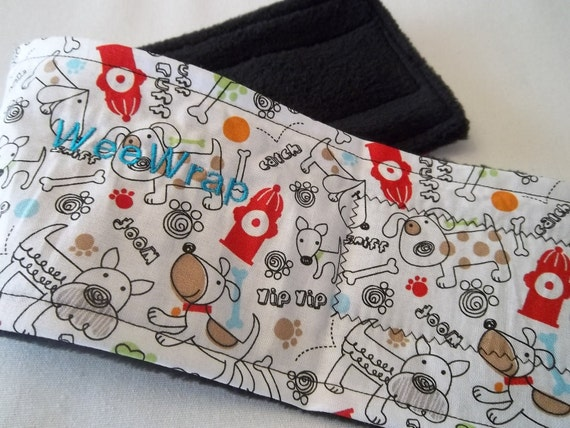 Dog Diaper Belly Band, Fire Hydrant, Stop Marking with WeeWrap, Personalized, Eco-Friendly