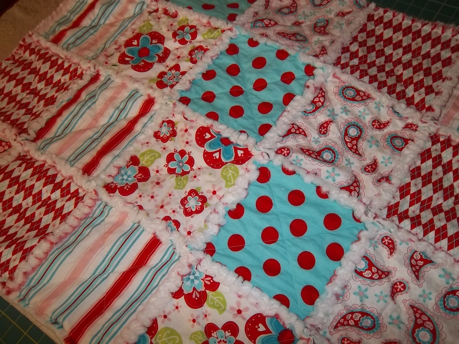 Rag Quilt Pattern Tutorial Easy to make with Photos by beffie48