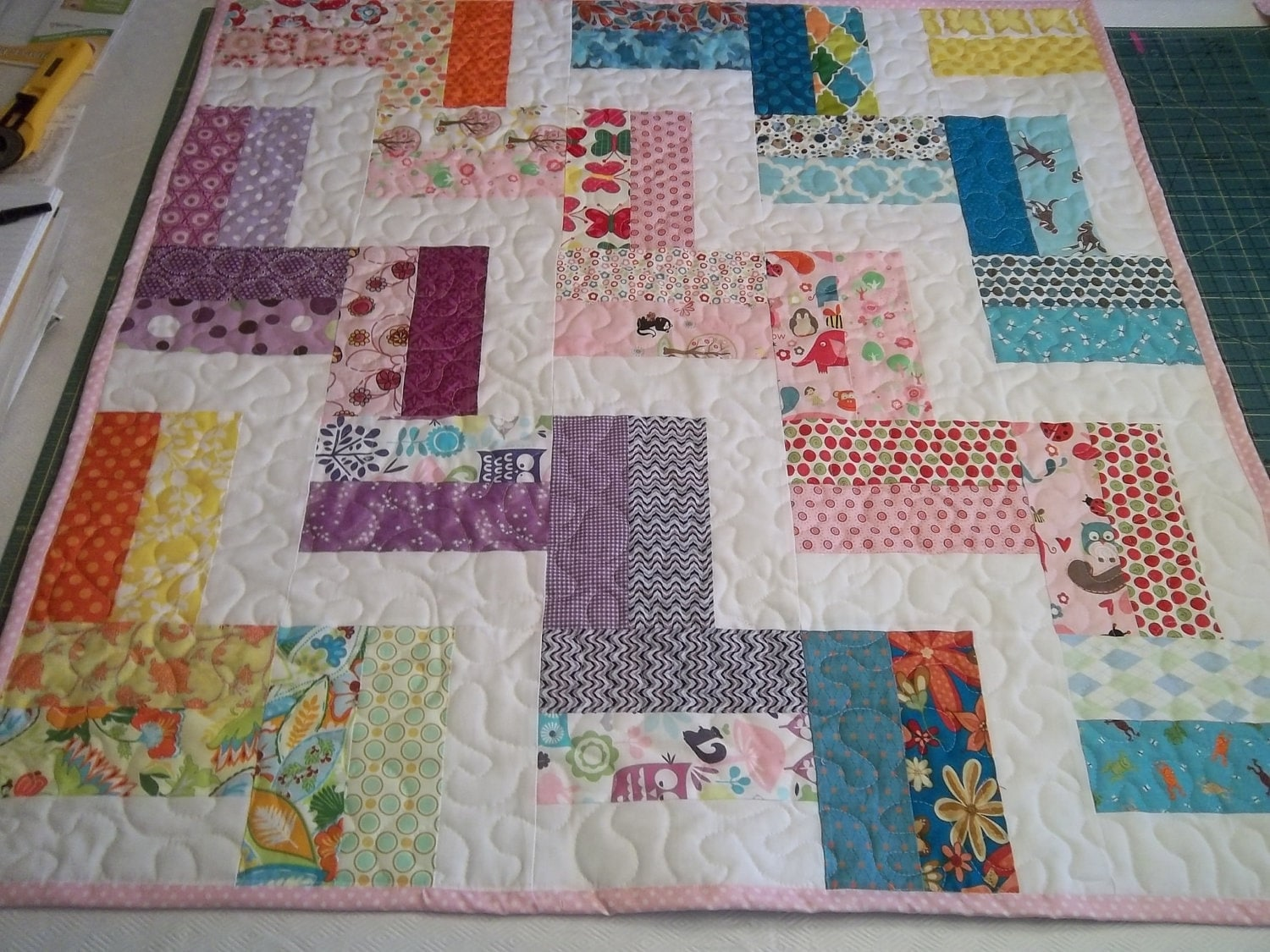 Easy Quilt Patterns For Baby : Zig Zag Quilt Pattern Tutorial Baby Quilt Pattern pdf