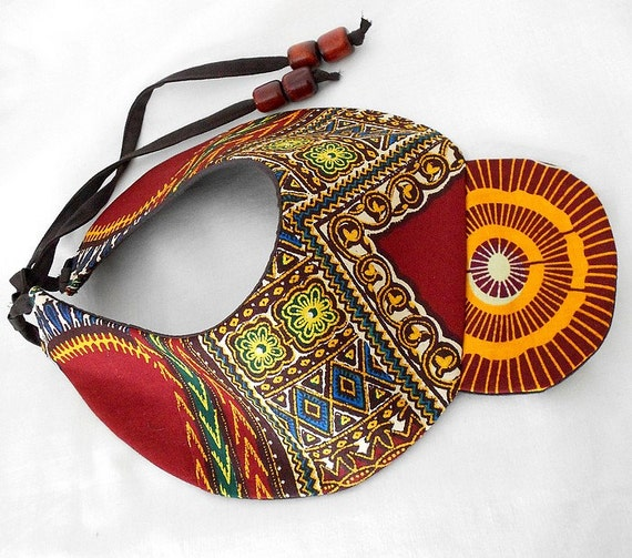 One of a Kind Tribal Collar, African Patchwork Bib necklace, Unique Dashiki necklace, handmade statement piece