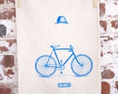 Surreal Cyclist Tea Towel