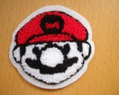 Super Mario Head Embroidered Sewing Patch, Brand New