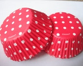 Wilton Red White Polka Dots Sweet Party Cupcake Baking Cups Liners (QTY 50)