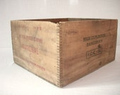 Vintage Printed Wood Box / High Explosives / National Powder Co / Reserved for Rhonda