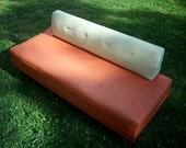 Vintage Mid Century Sofas / Orange and Cream