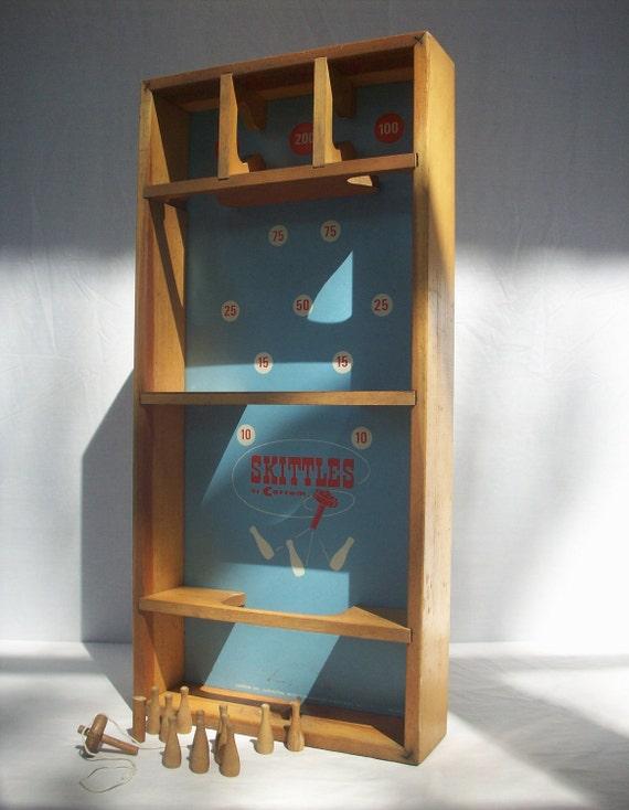 Vintage Skittles Game by Carrom / Wood / Model No N25