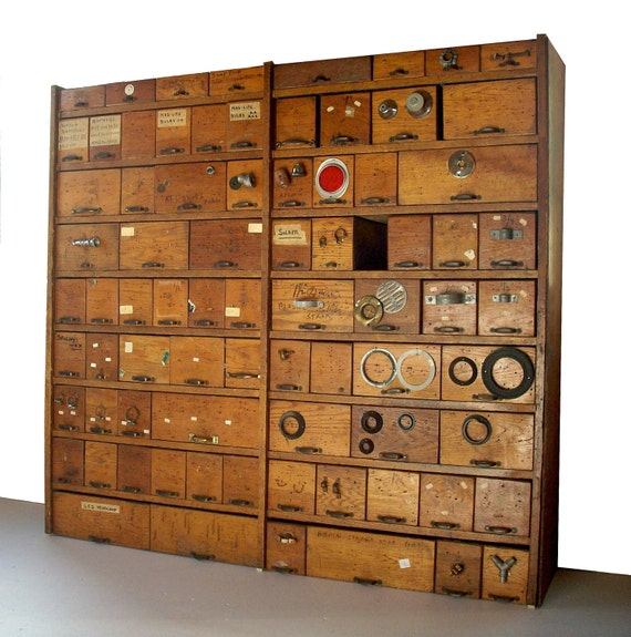 hardware storage cabinet items similar to reserved vintage hardware bins and 16221