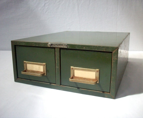Vintage Metal Industrial File Drawers