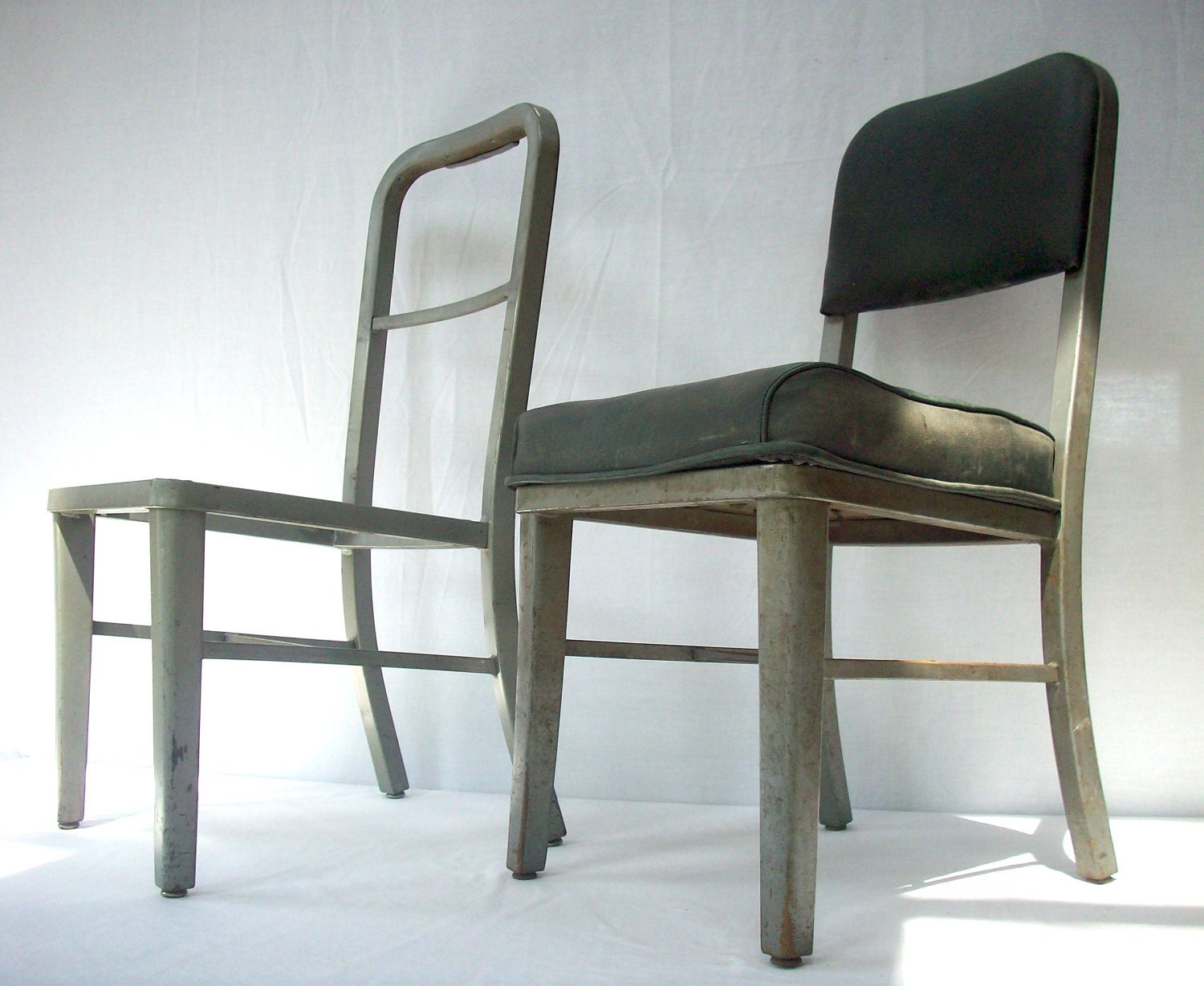 vintage steelcase metal frame office chairs 2 chairs