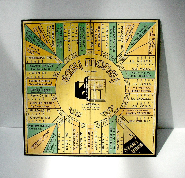 Vintage Board Game Easy Money Milton Bradley Company
