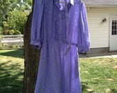 Vintage Lavender Triangle Dress