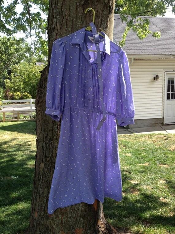 Vintage Lavender Triangle Dress