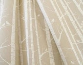 30% OFF Hand-printed Birch Forest fabric by Ink and Spindle (Last piece)