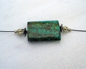 African Turquoise Focal Necklace