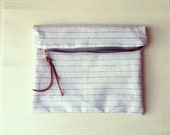 Black and White Stripe Pouch - free shipping