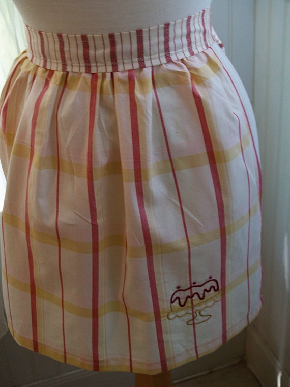 APRONS - Striped Cake Girl's Apron  - FREE SHIPPING