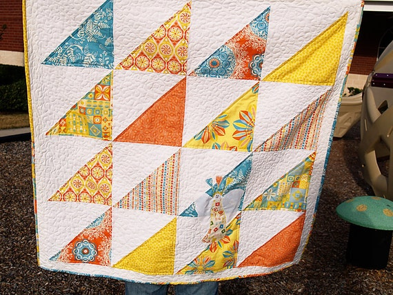 QUILTS - Power Pop Angel Throw Quilt - FREE SHIPPING