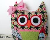 Dotty (Flowers & Dots Owl Pillow)