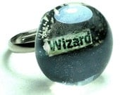 Wizard glass statement ring magic