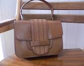 Reserved For Helen39 - Vintage Tan Leather Bag