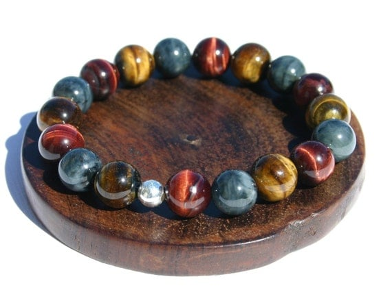 Power Bead Multi-Colored Tiger's Eye Bracelet