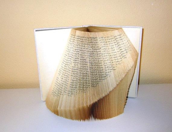 Book Statement - book sculpture - folded book