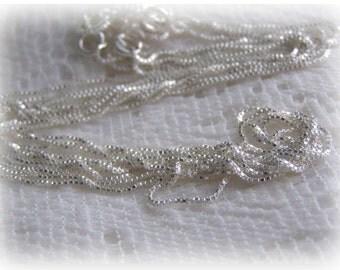 "18"" Sterling Silver Italian Box Chain"
