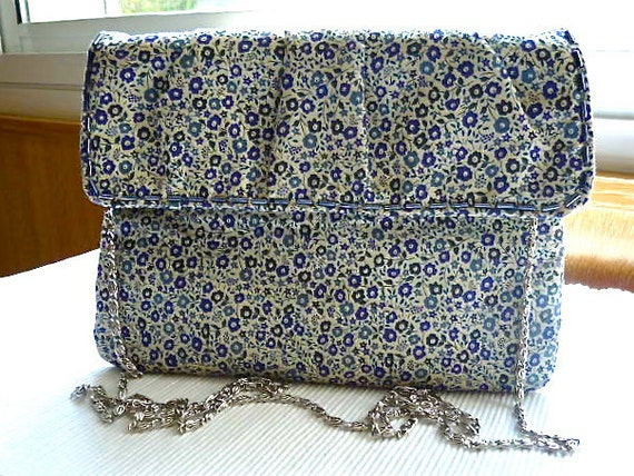 Blue Floral Hip Purse made of Liberty of London Cotton