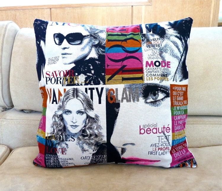modern madonna pillow cover 16 x 16 inch fashion by monikdesigns. Black Bedroom Furniture Sets. Home Design Ideas