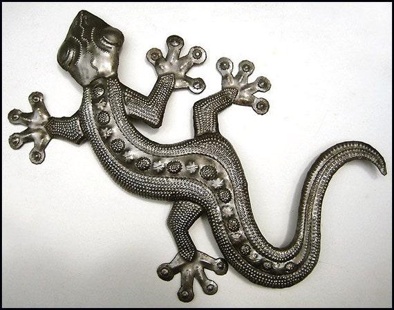 Gecko Metal Art 36 Outdoor Garden Metal Wall Art By