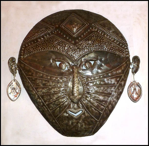 African Masks: HaitianTribal Mask Wall Hanging - Ethnic Design ...