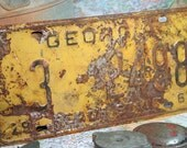 1961 Georgia LIcense Plate Yellow