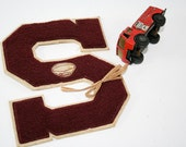 Maroon Lettermans S from High School Football Jacket