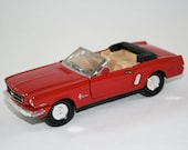Red Ford Mustang Convertible Toy Car