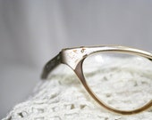Cat Eye Glass Frames in Taupe and Silver .......H