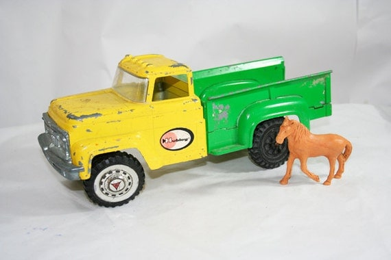 Hubley Pick Up Truck Toy Yellow and Green