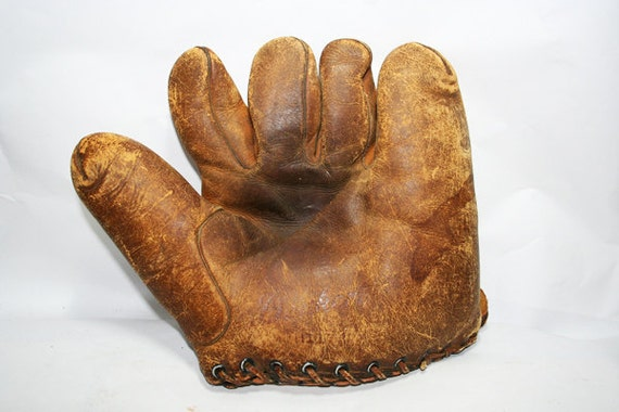 Baseball Catchers Mit Glove, Vintage Well Loved