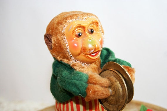 Wind Up Monkey with Cymbals, display collectible