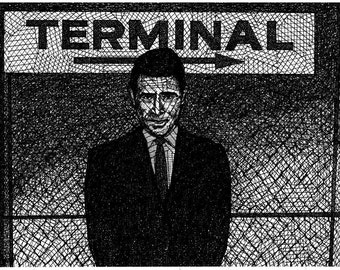 Rod Serling, The Twilight Zone - Limited Edition Original Signed Print Drawing no. 10/59- Twilight Zone Print