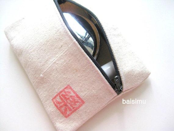 Multi-purpose zipped purse - Happiness