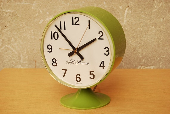 Seth Thomas Green Table Clock