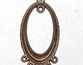 18 pieces - Antique Copper Plated Drop Charms - 38x18 mm - Large Wholesale Lot - (016)