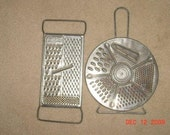 Vintage Metal Cheese and Vegetable Food Graters Flat and Round