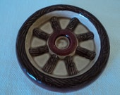 Vintage Western Wagon Wheel Soap Dish Catch All Coin Dish