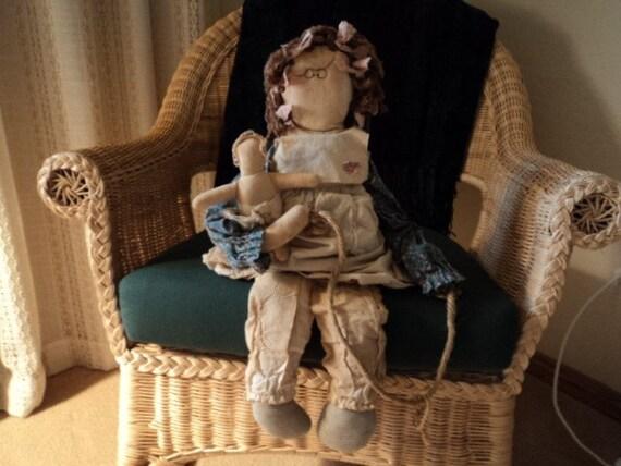 Vintage Handmade Raggady Doll Rag Doll Attic Babies Wackie Jackie
