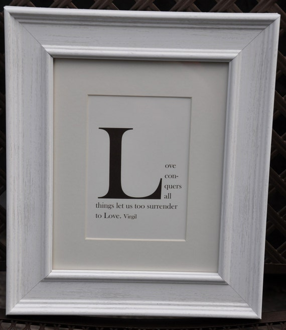 items similar to framed monogram quote print