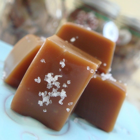 Fleur de Sel Caramels - 1lb in a Mason Jar - Hostess with the Most Gift