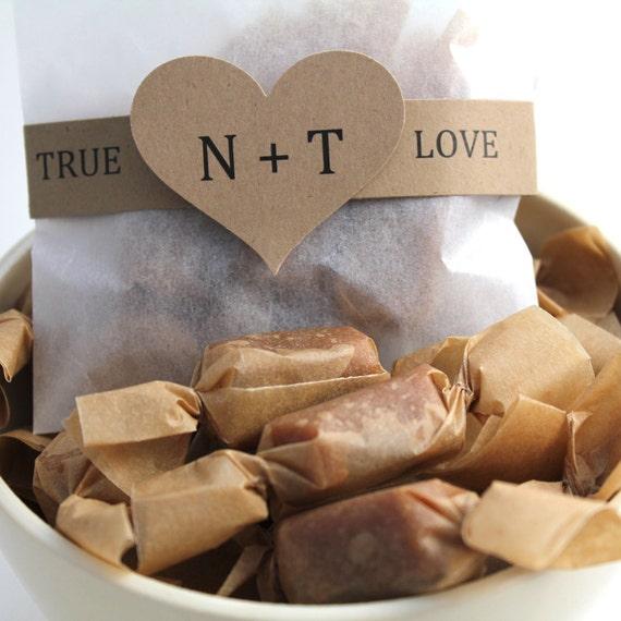 DIY Fleur de Sel Caramel Wedding Favor Packages - 125 Guests - RESERVED for PATTY