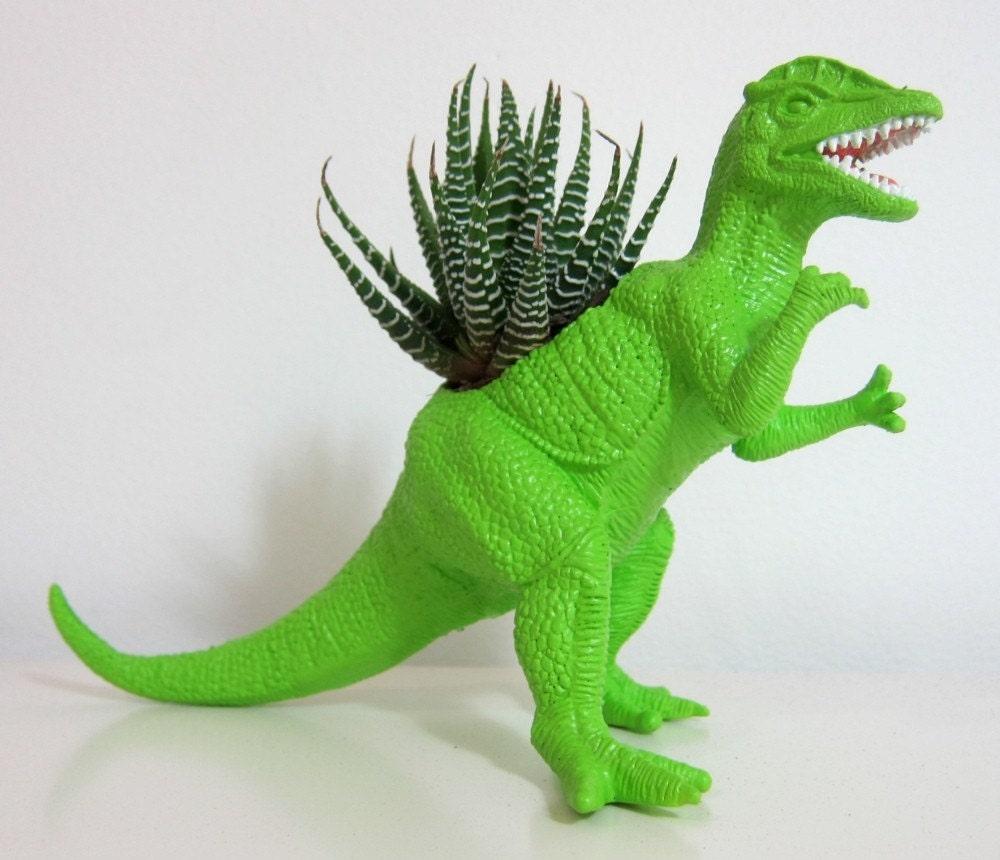 Rick The Dilophosaurus Planter Succulent