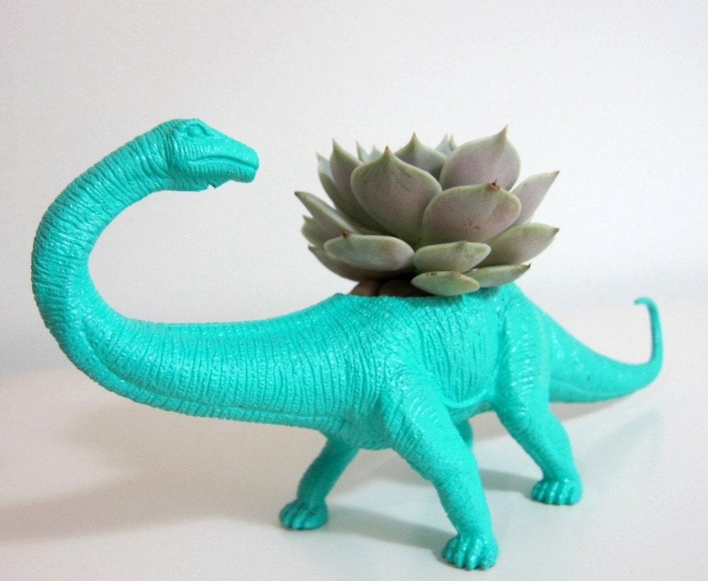 Aimee The Apatosaurus Planter Succulent By Plaidpigeon
